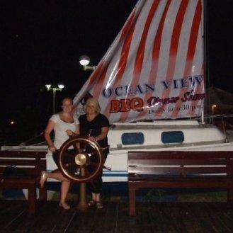 me and mom saipan
